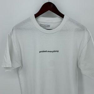 Dark Circle Crew Shirt 'Protest. Everything.' L